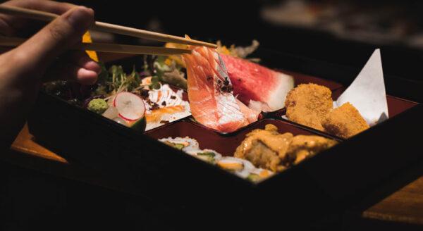 Salmon Teriyaki Bento Lunch